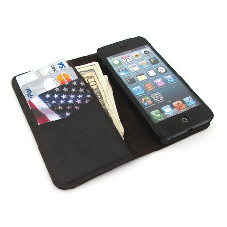 Premium Leather Wallet Case // iPhone 5