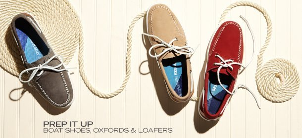 PREP IT UP: BOAT SHOES, OXFORDS & LOAFERS, Event Ends May 6, 9:00 AM PT >