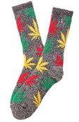 <b>HUF</b><br />The HUF x Snoop Plantlife Socks in Black Heather