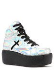 <b>UNIF</b><br />The Cross Trainer Shoe in Rainbow Silver