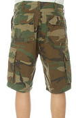 <b>Rothco</b><br />The Vintage Paratrooper Cargo Shorts in Olive Camo