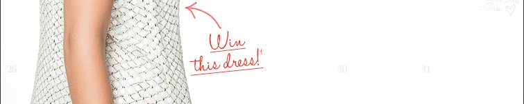 Enter to WIN this dress!