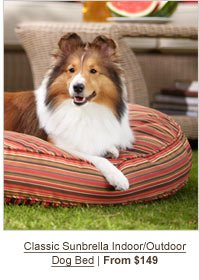 Classic Sunbrella Indoor/Outdoor Dog Bed | From $149