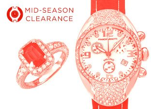 Mid-Season Clearance: Women's Jewelry & Watches