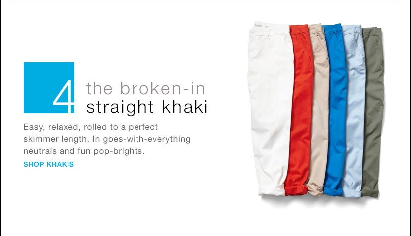 4 | the broken-in straight khaki | SHOP KHAKIS