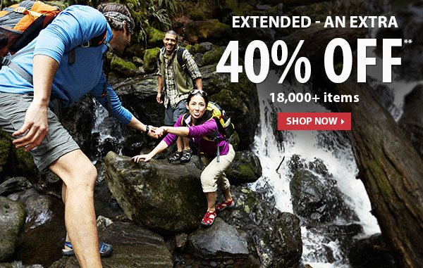 Extended - Top Secret Sale! An Extra 40% OFF over 18,000 Items!
