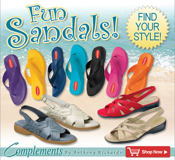 Complements by Anthony Richards® - Fun Sandals, Find your style! Compare our prices and Save on the brands you love!! Shop Now >