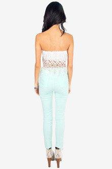 Nikki Crochet Tube Top $21