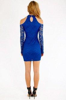 Cold Shoulder Lace Bodycon Dress $26
