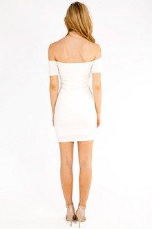 Pucker Off Shoulder Dress $28