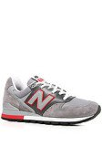 <b>New Balance</b><br />The 996 Made in USA Sneaker in Grey & Red