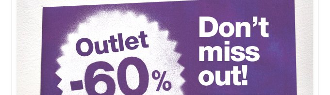 Outlet -60%