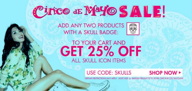25% Off Skull Icon Items!