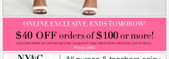 Everything Buy One Get One 50% Off...PLUS, an online exclusive!