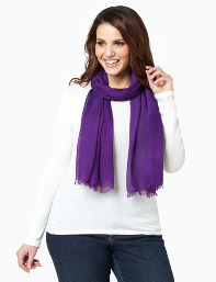 Catherines /Midnight Blue,Regal Purple,Dusty Coral Sheer Scarf