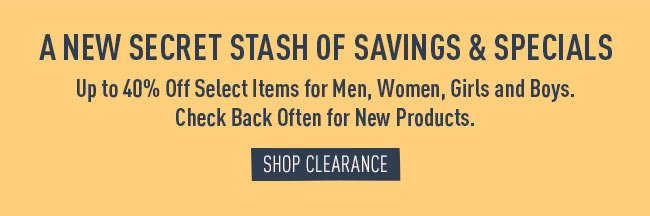 Shop the Clearance Section