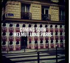 coming soon - HELMUT LANG PARIS