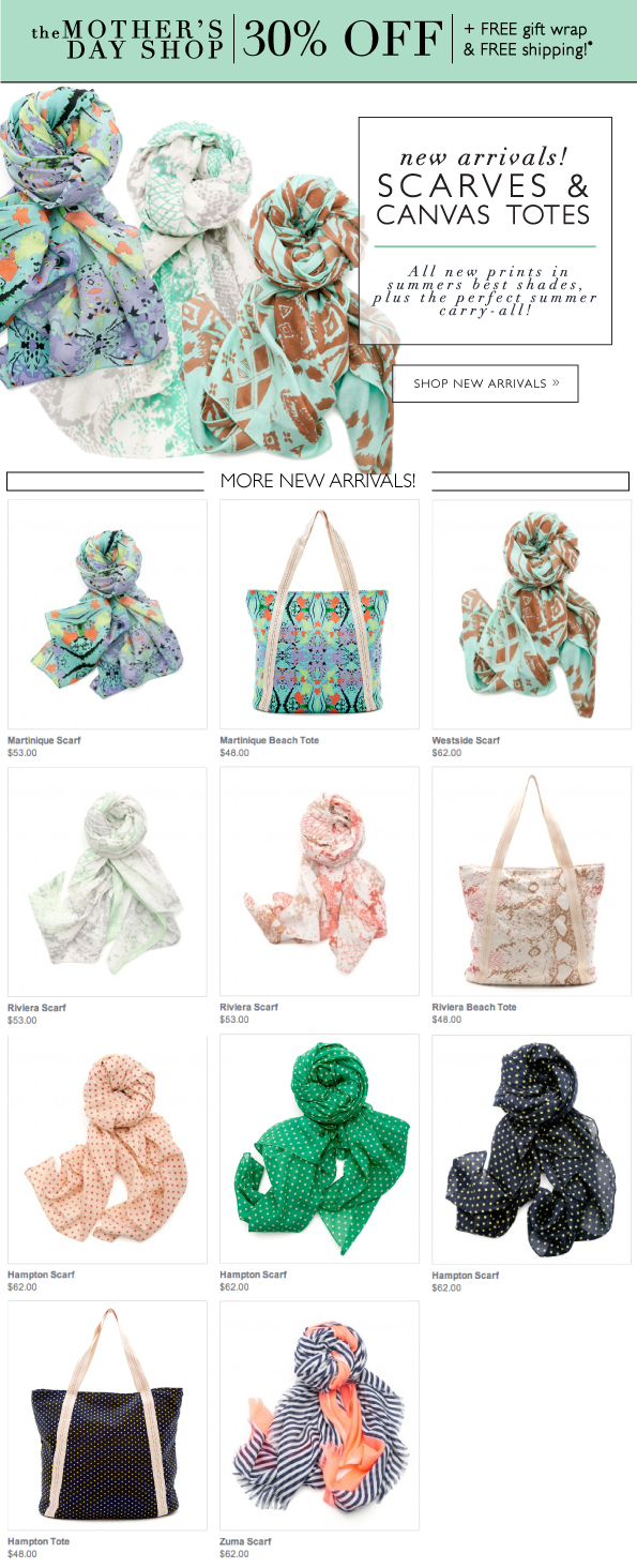 New Arrivals | Scarves & Canvas Totes