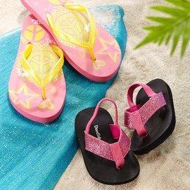 By the Beach: Kids' Footwear