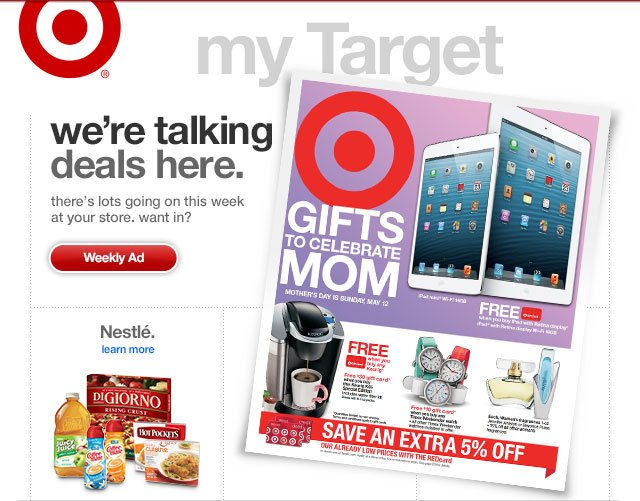 WE'RE TALKING DEALS HERE. There's lots going on this week at your store. Want in?