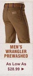 All Mens Wrangler Prewashed Jeans on Sale