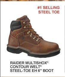 "Raider Multishox Contour Welt Steel Toe EH 6"""