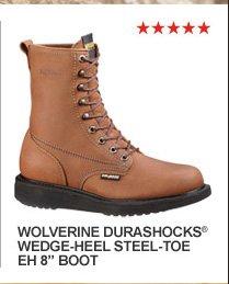 """Wolverine DuraShocks Wedge-Heel Steel Toe EH 8"""""""