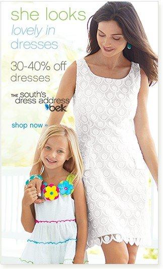 30-40% off dresses Shop now.