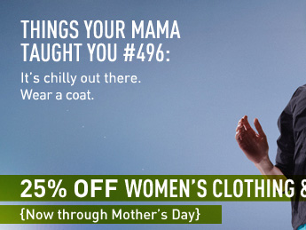THINGS YOUR MAMA TAUGHT YOU #496: It's chilly out there. Waer a coat.