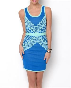 WOW Couture Printed Bandage Dress