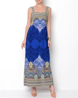Sandra Darren Printed Indian Pattern Dress
