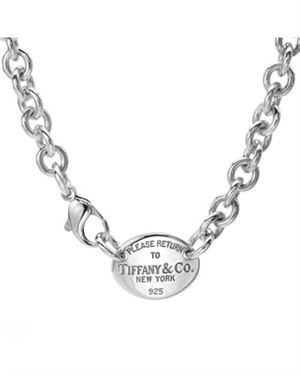 Tiffany & Co. Sterling Silver Tag Necklace