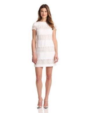 Donna Morgan<br>Linen and Lace Sheath Dress