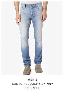 Men's Sartor Slouchy Skinny in Crete