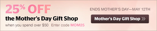 25% off Mother's Day Gift Shop