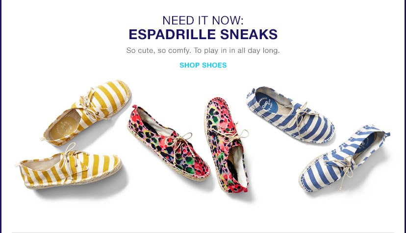 NEED IT NOW: ESPADRILLE SNEAKS | SHOP SHOES