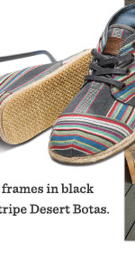 Denim Stripe  Men's Desert Botas