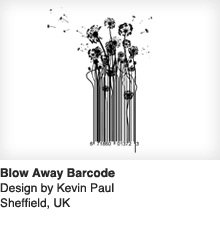 Blow Away Barcode - Design by Kevin Paul / Sheffield, UK
