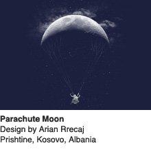 Parachute Moon - Design by Arian Rrecaj / Kosovo, Albania
