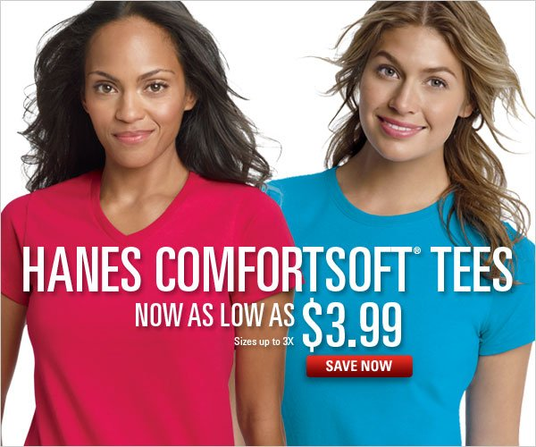 Hanes ComfortSoft Tees as low as $3.99