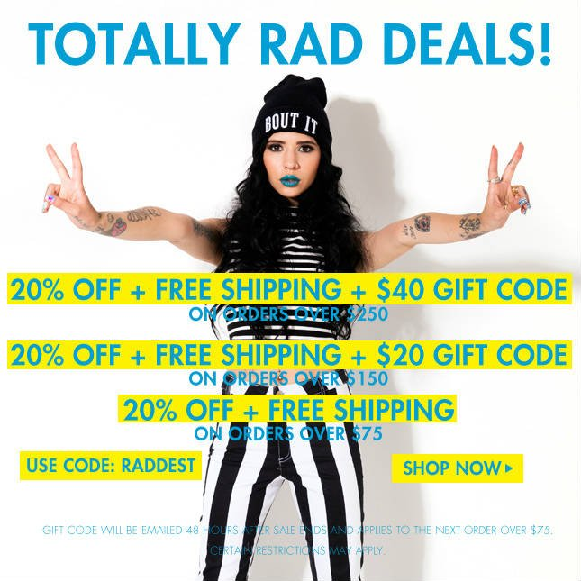 $40 Gift Code + 20% Off and Free Ship on orders over $250