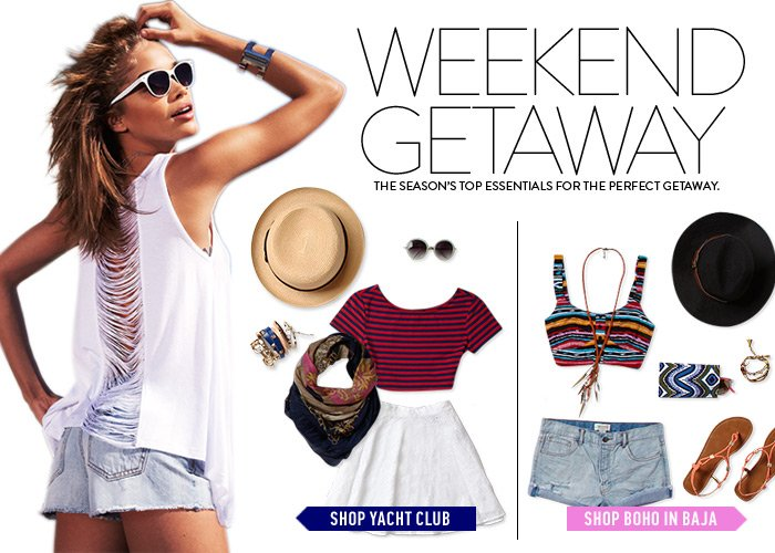 Just In! Must-Haves for a Weekend Getaway - Shop Now