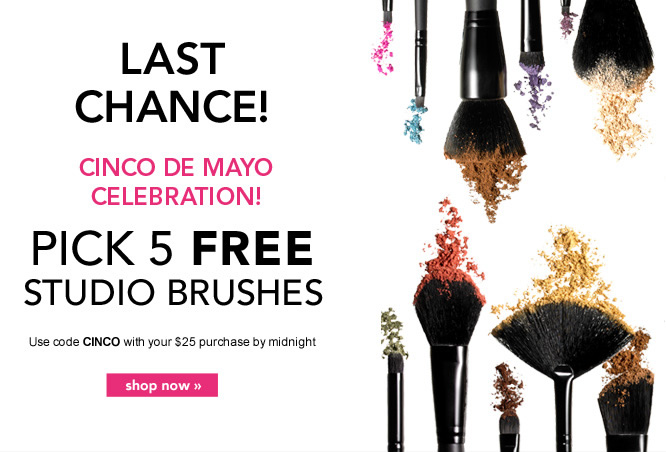 Pick 5 Free Studio Brushes. Code: CINCO - Shop Now