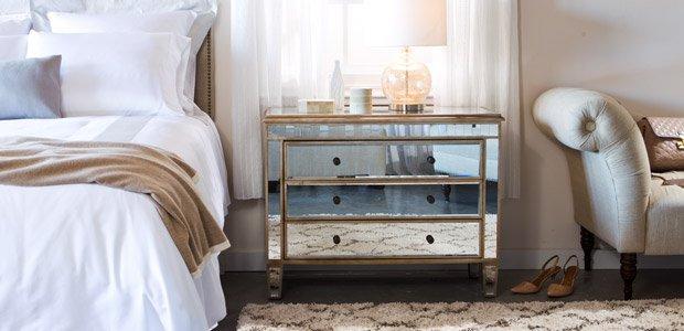 Chic Sleep: Tufted & Mirrored Bedroom Furniture