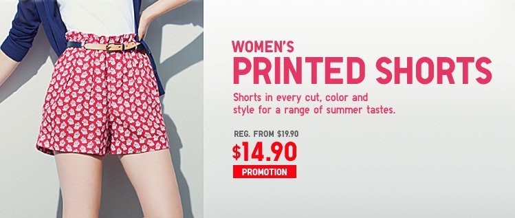 WOMEN'S PRINTED SHORTS