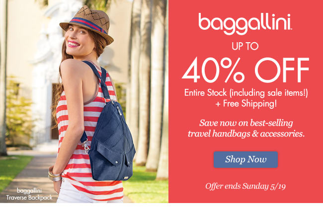baggallini up to 40% Off Entire Stock + Free Shipping. Shop Now