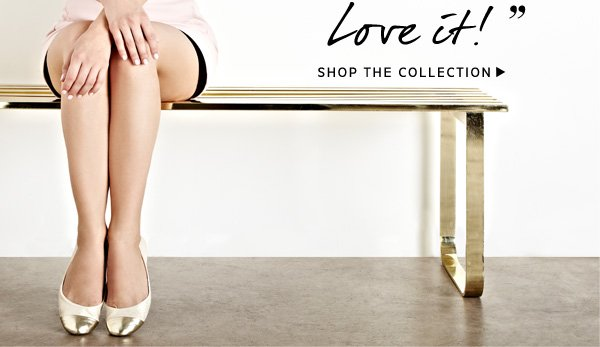 """""""A chic flat with a pop of metallic. Love it!"""" - Julianne Hough. Shop the Collection."""