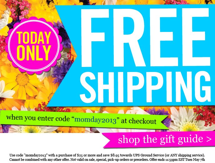 free ship + today only