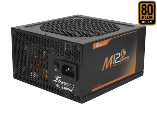 SeaSonic M12II 750 SS-750AM 750W ATX12V / EPS12V SLI Ready 80 PLUS BRONZE Certified Modular Active PFC Semi-modular Power Supply