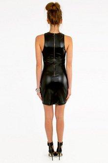 Racetrack Leather Dress $32